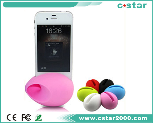 Easter silicone egg speaker for Iphone 4S/4 and other mobilephone