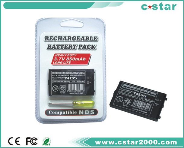 Rechangeable battery pack compatible NDS