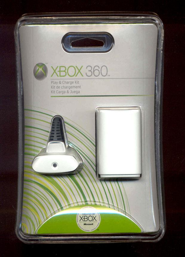 XBOX360 charging cable+battery with full 500MA capacity