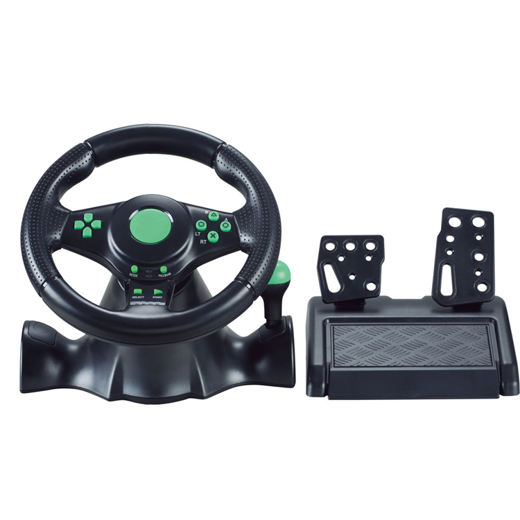 NS-9804 XBOX360&PS3&PS2&PC 4in1 Wire Game Steering wheel