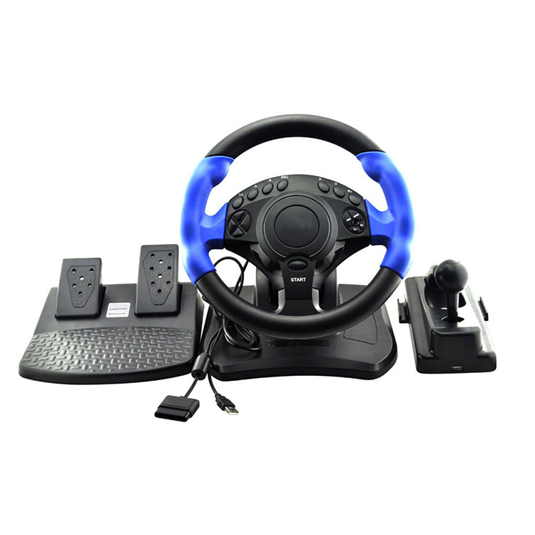 NS-9807 PS2&PS3&PC 3in1 Wire Game Steering wheel